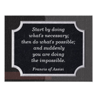 Francis of Assisi quote - print