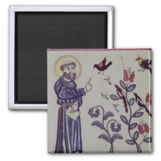 Francis of Assisi Square Magnet