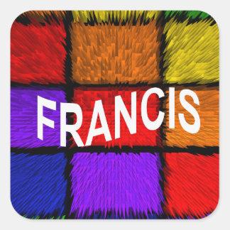 FRANCIS SQUARE STICKER
