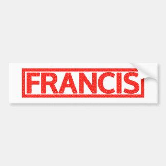 Francis Stamp Bumper Sticker