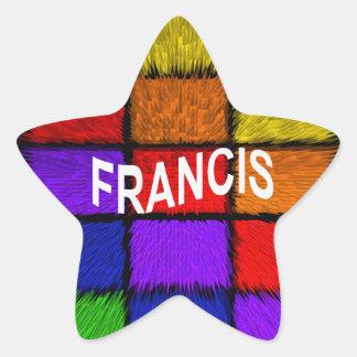 FRANCIS STAR STICKER