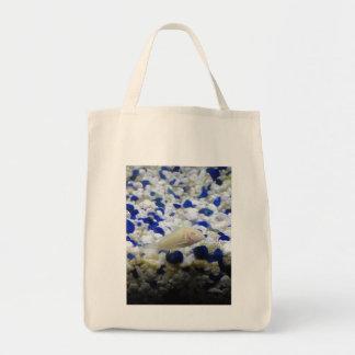 Francis the albino cat fish tote bag