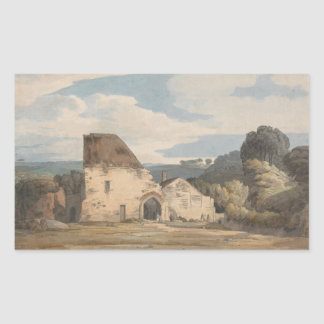 Francis Towne - Dunkerswell Abbey Rectangular Sticker