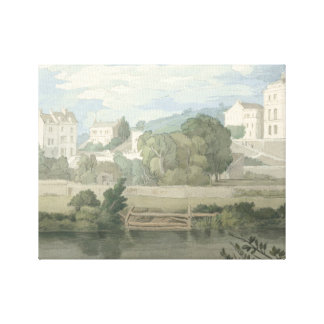 Francis Towne - Houses near Plymouth Canvas Print