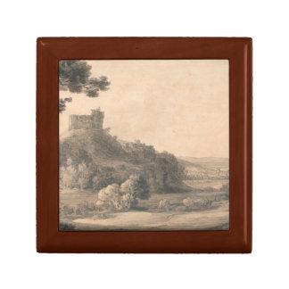 Francis Towne - Oakhampton Castle Small Square Gift Box