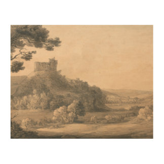 Francis Towne - Oakhampton Castle Wood Wall Decor
