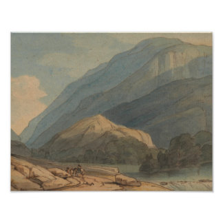 Francis Towne - The Entrance into Borrowdale Poster