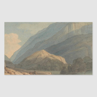 Francis Towne - The Entrance into Borrowdale Rectangular Sticker