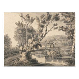 Francis Towne - The Foot Bridge Postcard