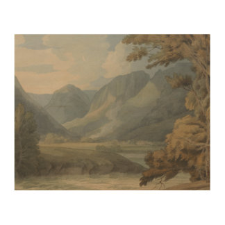 Francis Towne - View in Borrowdale of Eagle Crag Wood Wall Decor