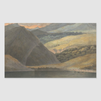 Francis Towne - View on Lake Maggiore at Evening Rectangular Sticker
