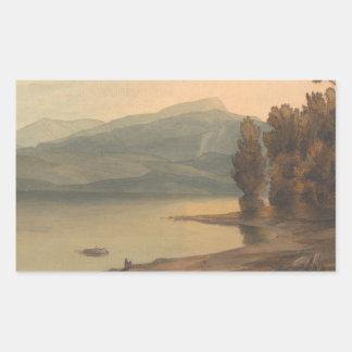 Francis Towne - Windermere at Sunset Rectangular Sticker