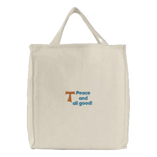 Franciscan bag embroidered tote bag