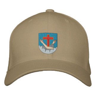 Franciscan coat of arms embroidered cap