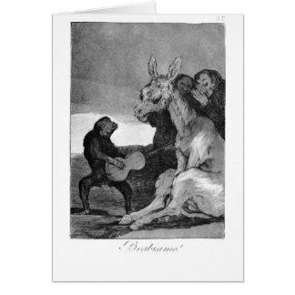 Francisco Goya- Bravissimo Card