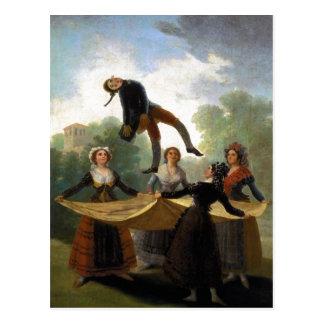 Francisco Goya, Kuka The Straw Manikin 1791-92 Oil Postcard