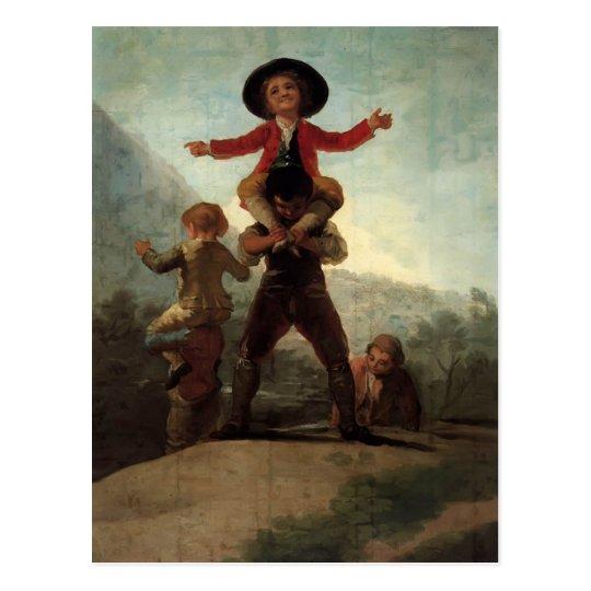 Francisco Goya- Playing at Giants Postcard
