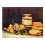 Francisco Goya- Still life fruit, bottles, breads Post Cards