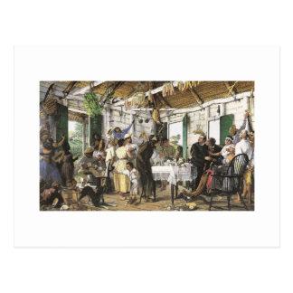 Francisco Oller El Velorio Postcard