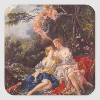 Francois Boucher - Jupiter and Callisto Square Sticker