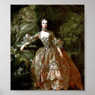 Francois Boucher - Madame de Pompadour Print