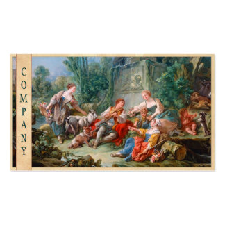 francois boucher shepherd's idyll rococo scenery pack of standard business cards