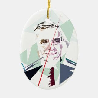 Francois Fillon after Pénélope Spoils Ceramic Ornament