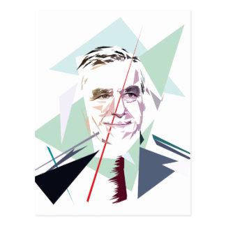 Francois Fillon after Pénélope Spoils Postcard