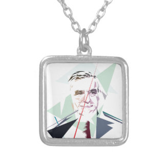 Francois Fillon after Pénélope Spoils Silver Plated Necklace