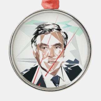 Francois Fillon before Pénélope Spoils Metal Ornament