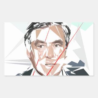 Francois Fillon before Pénélope Spoils Rectangular Sticker