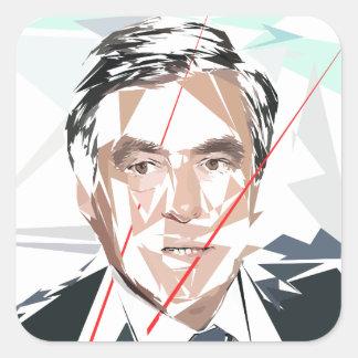 Francois Fillon before Pénélope Spoils Square Sticker