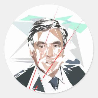 Francois Fillon before pénéloppe spoils Classic Round Sticker