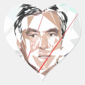 Francois Fillon before pénéloppe spoils Heart Sticker
