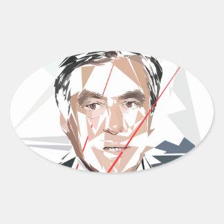 Francois Fillon before pénéloppe spoils Oval Sticker