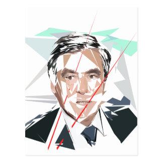 Francois Fillon before pénéloppe spoils Postcard