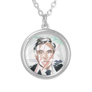 Francois Fillon before pénéloppe spoils Silver Plated Necklace