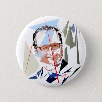 François Hollande 6 Cm Round Badge
