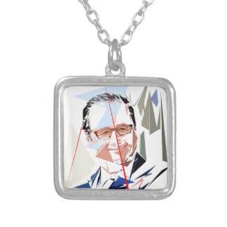 François Hollande Silver Plated Necklace