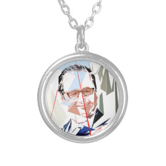 François Hollande Silver Plated Necklace