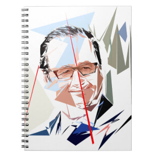 François Hollande Spiral Notebook