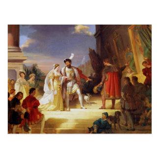 Francois I  with Leonardo da Vinci Postcard