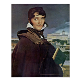 Francois-Marius Granet by Jean Auguste Ingres Poster