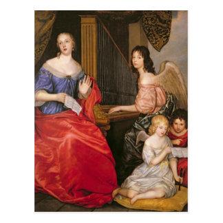 Francoise Louise Duchess La Valliere with Postcard