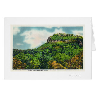 Franconia Notch State Park View of Indian Head Card