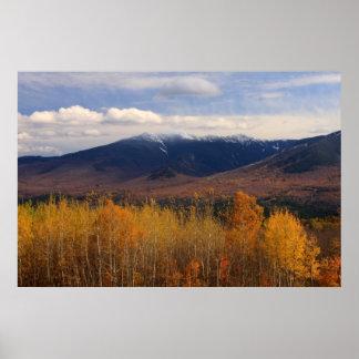 Franconia Ridge Foliage and Snow Poster