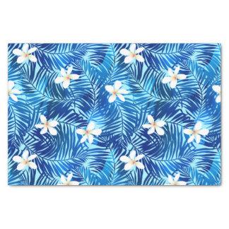 Frangipani and blue palm leaf tissue paper