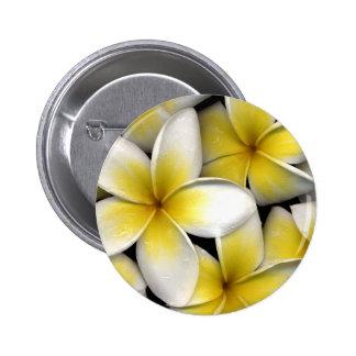 Frangipani 6 Cm Round Badge