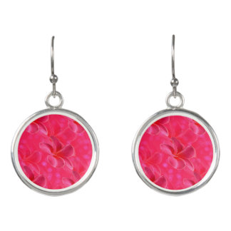 Frangipani_Blush_Ladies_Pink_Round_Silver_Earrings Earrings