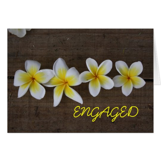 Frangipani Engagement Card